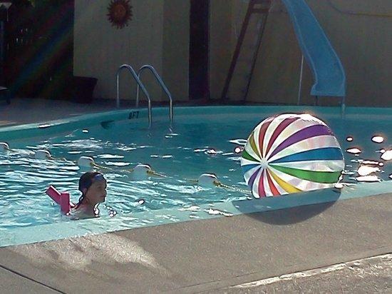 Riverside Resort & Campground:                   Pool fun