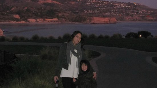Terranea Resort:                   Evening walk around the property