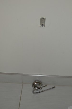 Staybridge Suites Times Square - New York City:                   Toilet paper holder stayed on floor for one week