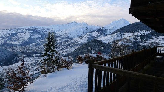 Chalet Montperron:                   Bourg Saint Maurice from afar