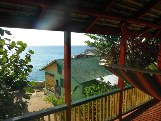 Banana Shout Resort:                   Red Rooster balcony view