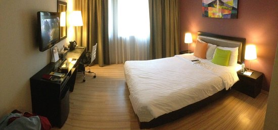 The Brunei Hotel:                   Deluxe room.