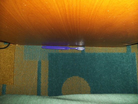 La Quinta Inn Costa Mesa Orange County:                   Toothbrush from previous occupants. that maids left when cleaning room twice.