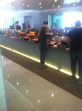 Nassima Royal Hotel:                   buffet on mezzanine floor