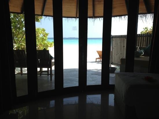 The Sun Siyam Iru Fushi Maldives:                   View front Beach Villa 310 - what a view!