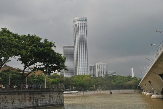 Swissotel The Stamford: The Hotel from a distance