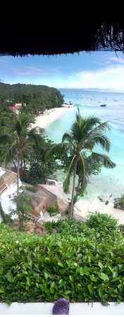 Nami Boracay:                   Looking down on Diniwid Beach from Nami
