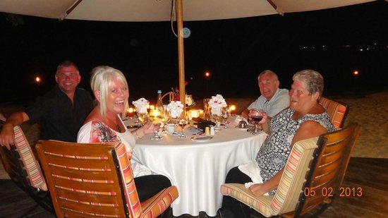 Maritim Resort & Spa Mauritius:                   Beautiful dinner at La Maree with friends thanks to Vicky!