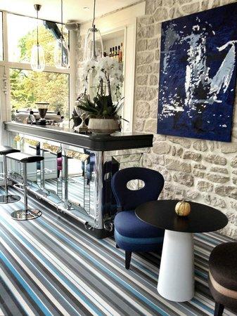 Le Jardin des Plumes : le salon, pour un verre ou le petit déjeuner