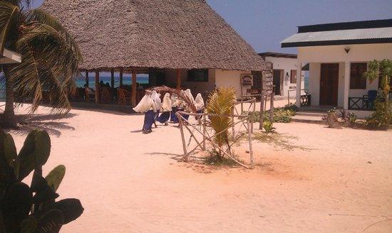 Jambo Brothers Bungalows:                   Local people passing sometimes.