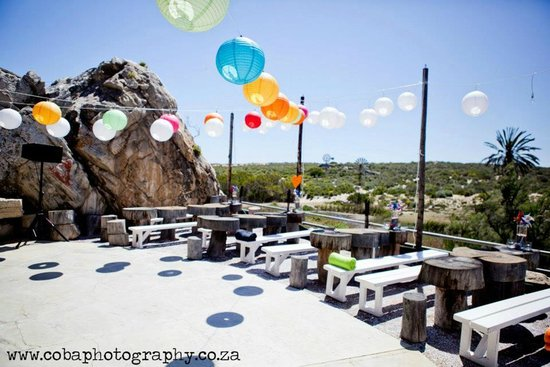 The open air part with colourful decorations for a wedding reception bosduifklip the open air part with colourful decorations for a wedding reception junglespirit Image collections