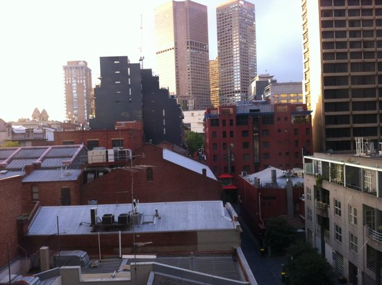 Quest on Lonsdale :                                                       View from the room (to Punch Lane)