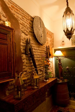 Riad Dar Oulhoum:                   hall d'entrée