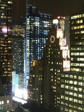 Hilton Times Square:                   the view from our window.