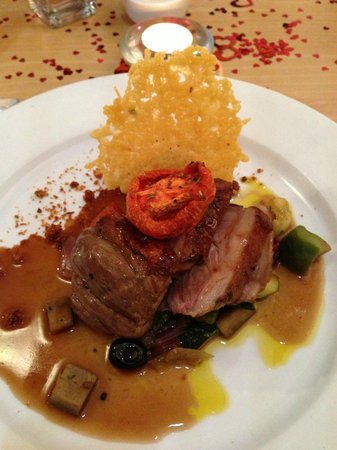 The Minnis Bay Bar & Brasserie: Valentines Lamb main course ;)