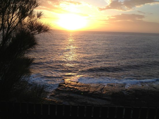 NRMA  Merimbula Beach Holiday Park:                   sunrise from our balcony