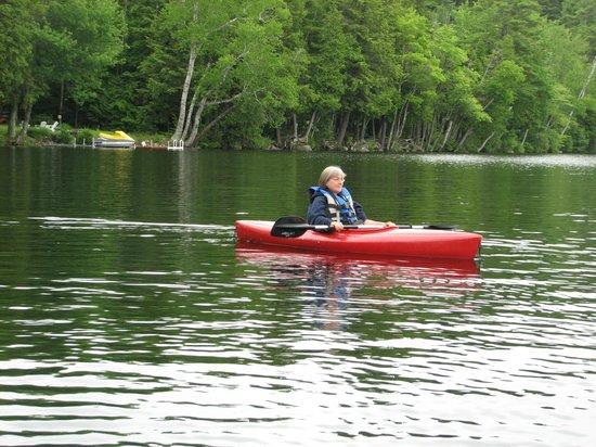 Camp Skoglund :                                     KAYAKING ON THE LAKE