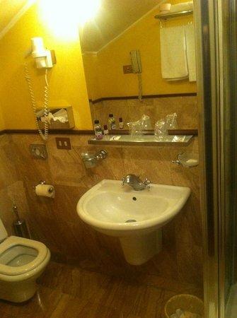 Hotel Violino d'Oro: Bagno con doccia