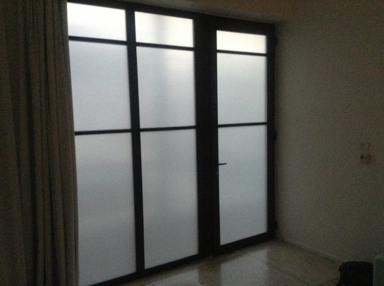 Deseo Hotel:                                                                         the Frosted Glass window