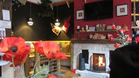 Calf Sanctuary Cafe:                   Cosy corner