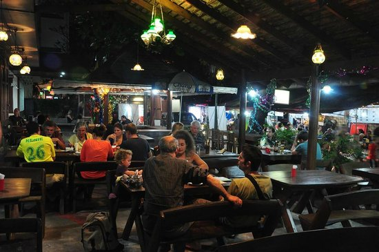 Baan Sabai:                   Restaurant Area at Night