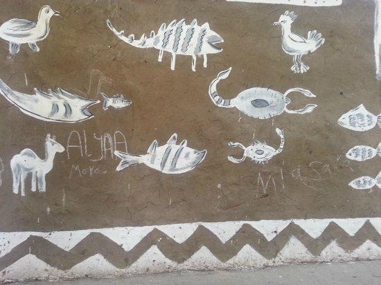 Animalia:                   Wall paintings in Nubian Village