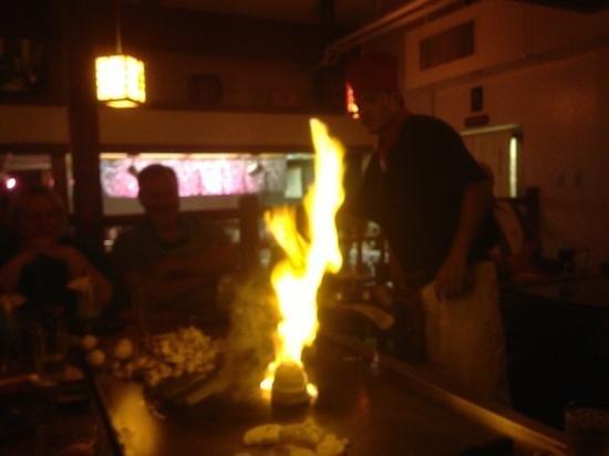 Kobe' Japanese Steak House:                   volcano!