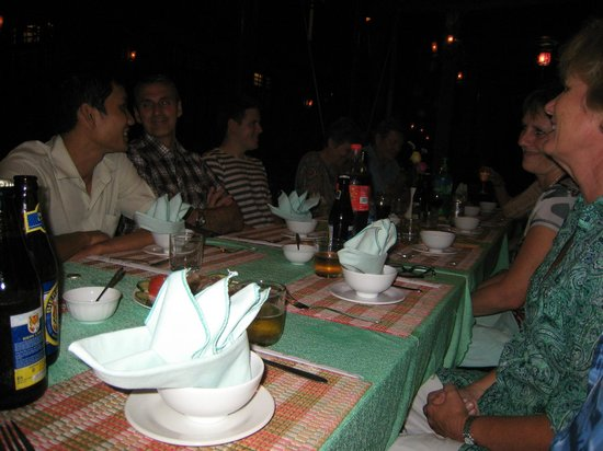 Betel Garden Villas:                   complimentry dinner with all guests