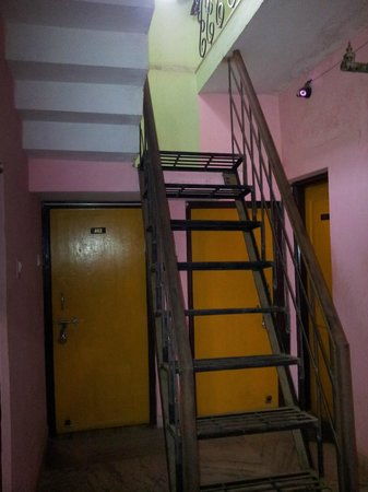 Patra Guest House:                                                                         Stairs and passage to th