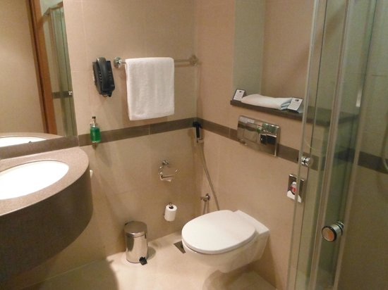 Holiday Inn Express Dubai Airport:                                     Compact bathroom