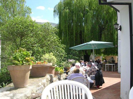 Restaurant Molino del Santo :                   Molino river terrace.