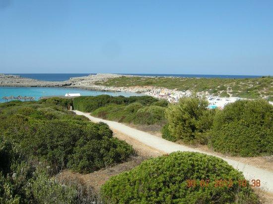 Playa de Binibeca Nou:                   Da lontano