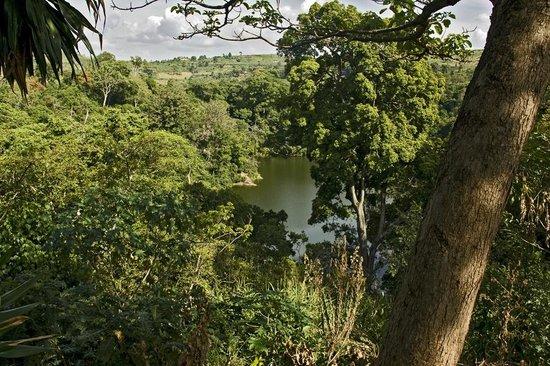 Enfuzi Community Campsite: view to Lake Nkuruba