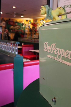 Sophie's Cosmic Cafe:                   Quirky decor at Sophie's