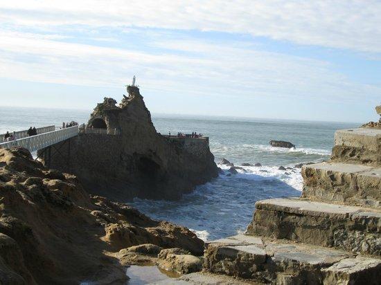 Rocher de la Vierge :                                     Biarritz