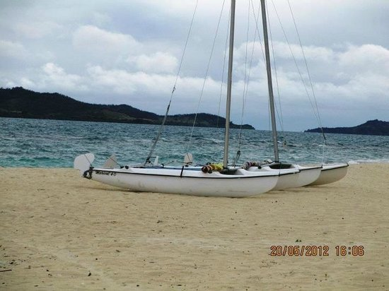 Navini Island Resort: Complimentary hobie-cat sailboat
