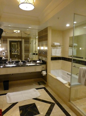 The Palazzo Resort Hotel Casino:                                     HUGE bathrooms, make-up table and separate toilet to the lef