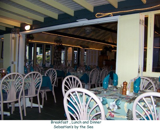 Sebastian's on the Beach:                                     Dining Room