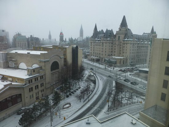 The Westin Ottawa:                                     View from our room