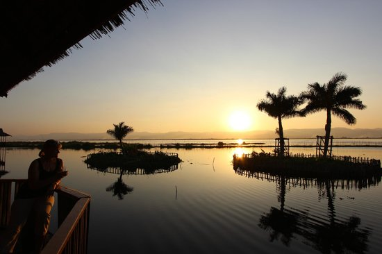 Sunset From Golden Island Cottages Ii Thale U Picture