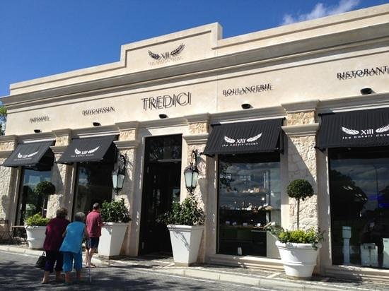 Tredici:                                     The front of the bakery/restaurant