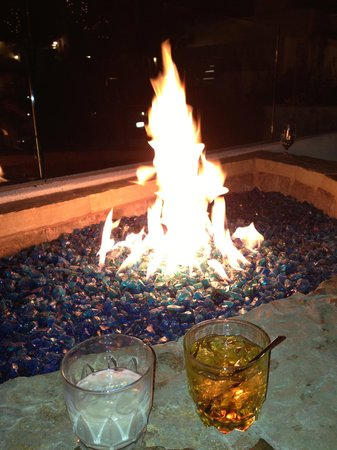 Omni Rancho Las Palmas Resort & Spa:                   OUtdoor fireplace