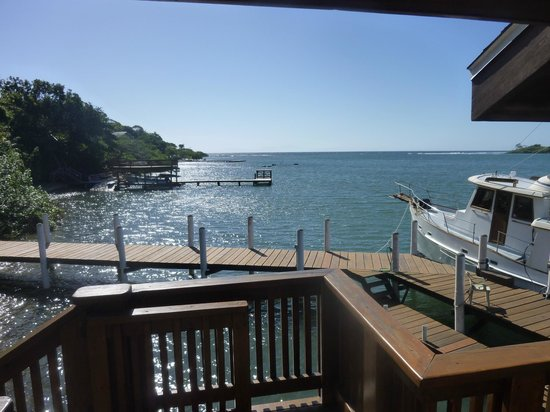 Castaways Cove:                                     View from boathouse