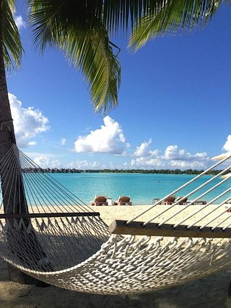InterContinental Bora Bora Resort & Thalasso Spa:                   View from beach hammock