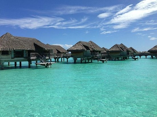 InterContinental Bora Bora Resort & Thalasso Spa:                   side view from out over water bungalow
