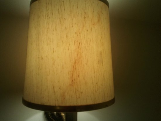 The Sitwell Arms Hotel:                   Room 2 - another stained lamp shade