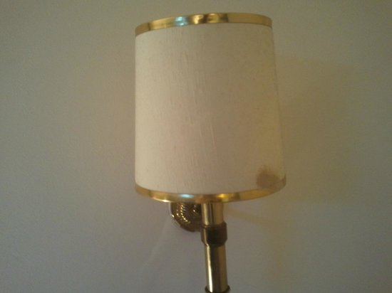 The Sitwell Arms Hotel:                   Room 1 - Stained lamp shade