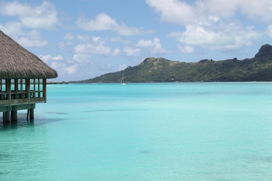 The St. Regis Bora Bora Resort:                   View from our bottom deck.