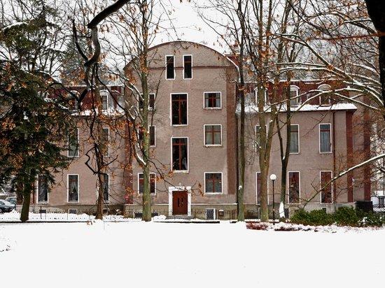 Hotel Muza: Zimowy widok od strony stawu