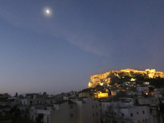 Central Athens Hotel:                   view from our room window